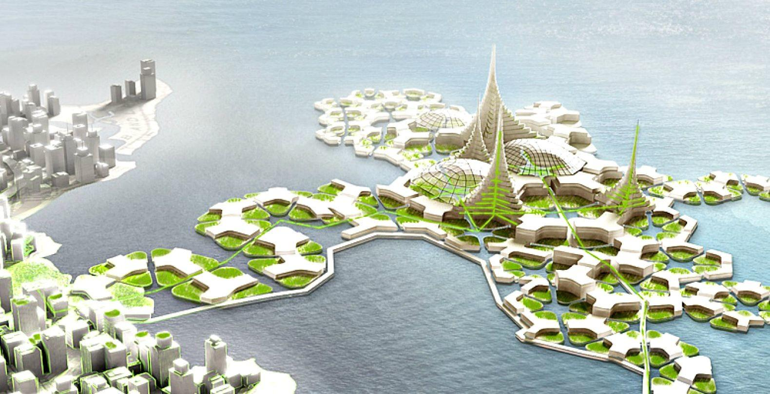 Japan Future Floating Sustainable Cities Asia Green