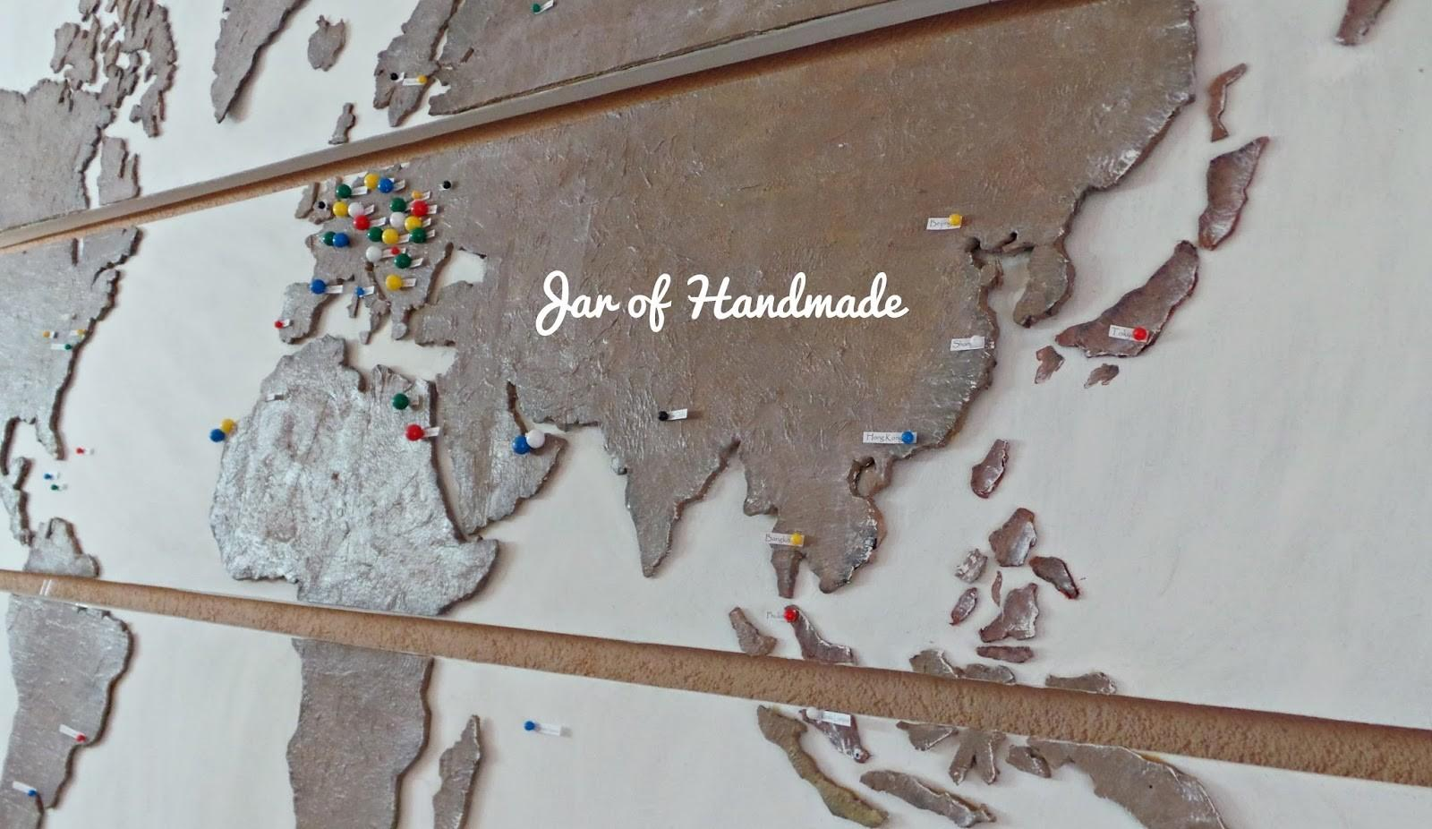 Jar Handmade Diy Personalized World Map All