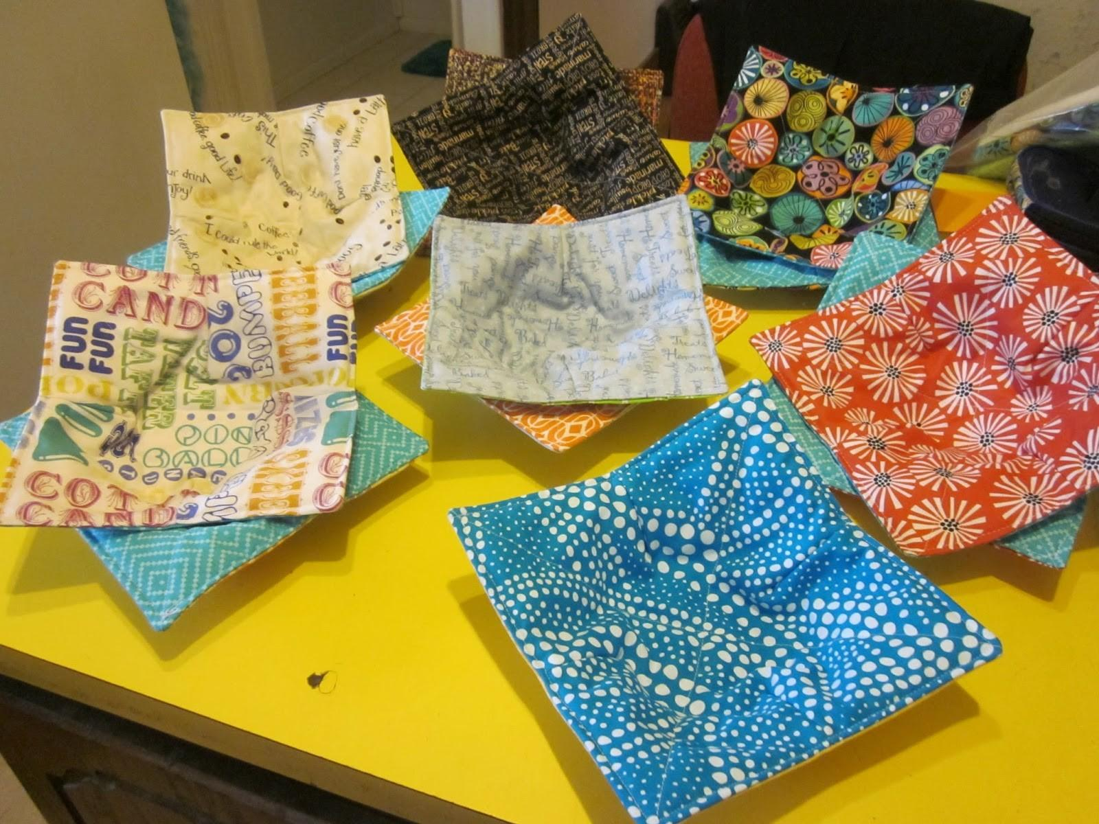 Jean Quilting Microwave Bowl Potholders