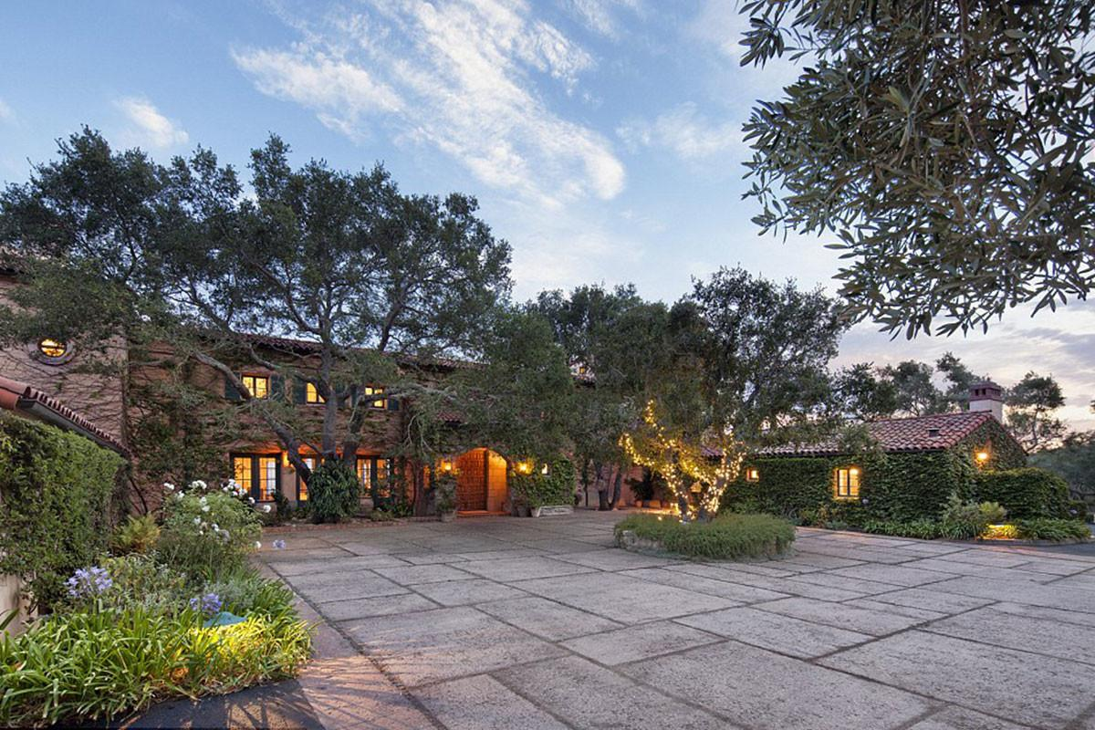 Jeff Bridges Stunning Mansion Beautiful Montecito