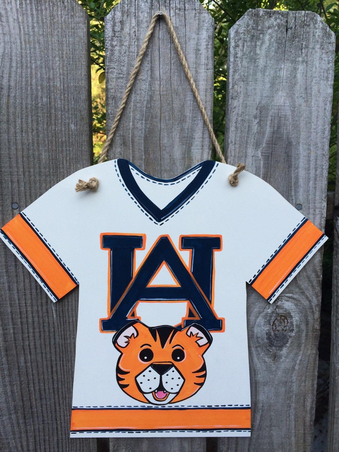 Jersey Wall Hanging Auburn Doodlesnstitches Etsy