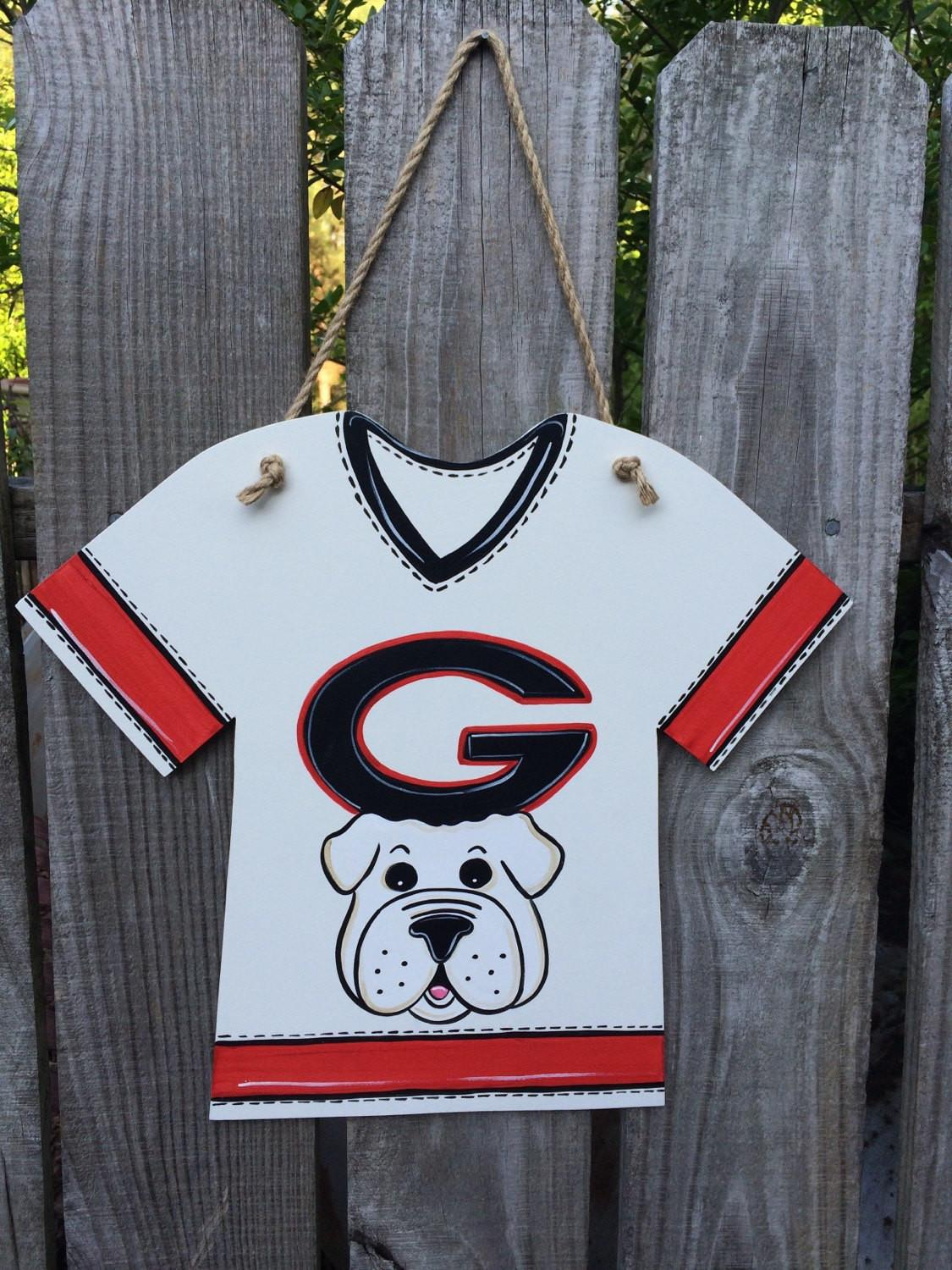 Jersey Wall Hanging Uga Doodlesnstitches Etsy