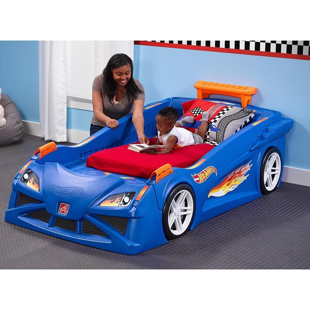Jet Step2 Hot Wheels Toddler Twin Race Car Bed Blue