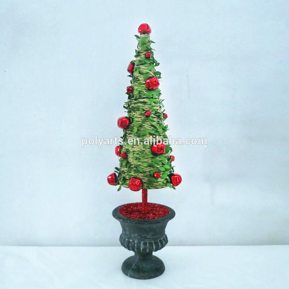 Jingle Bell Christmas Tree Cone Shape Topiary Decorative