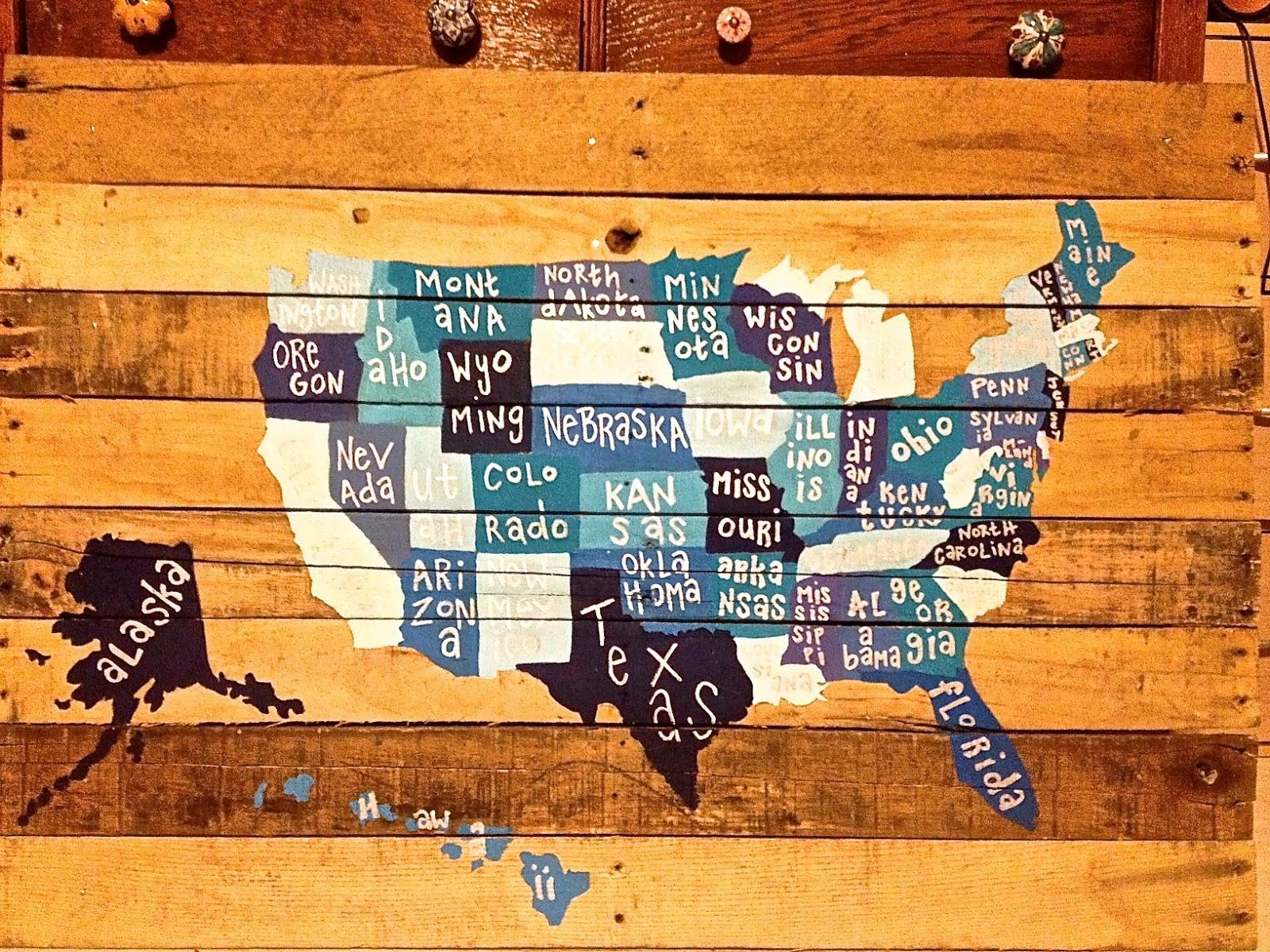 Jmarie Get Crafty Diy Pin Board Map