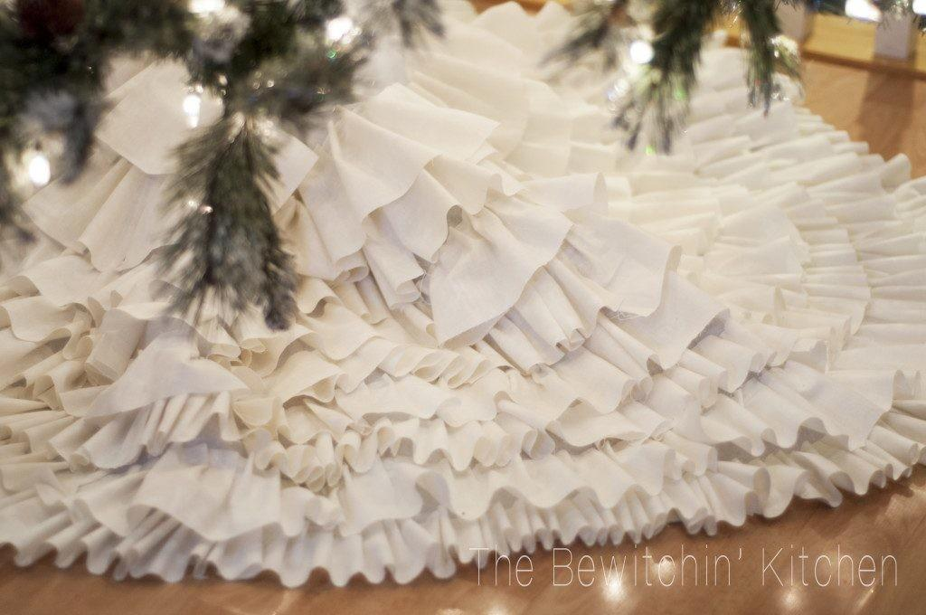 Joanna Gaines Inspired Sew Ruffled Tree Skirt All Created