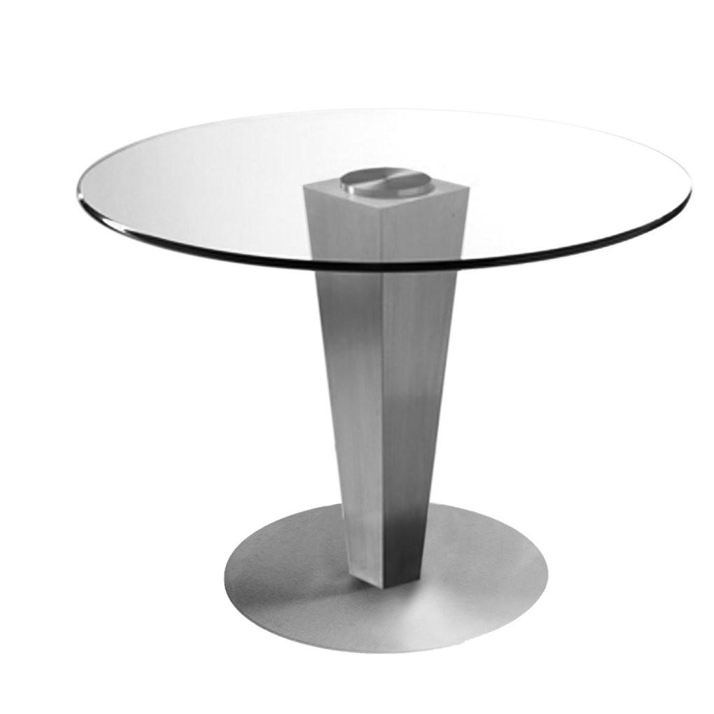 Julia Dining Table Brushed Stainless Steel Dia