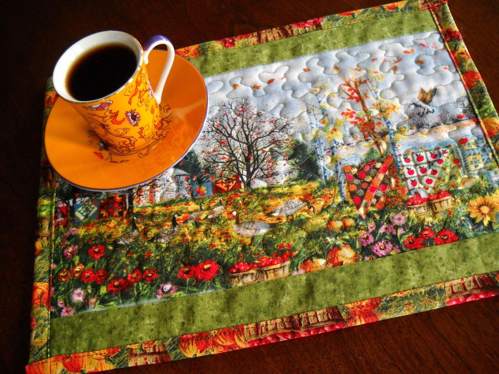 Julies Creative Ideas Autumn Quilts Mug Rugs Coffee
