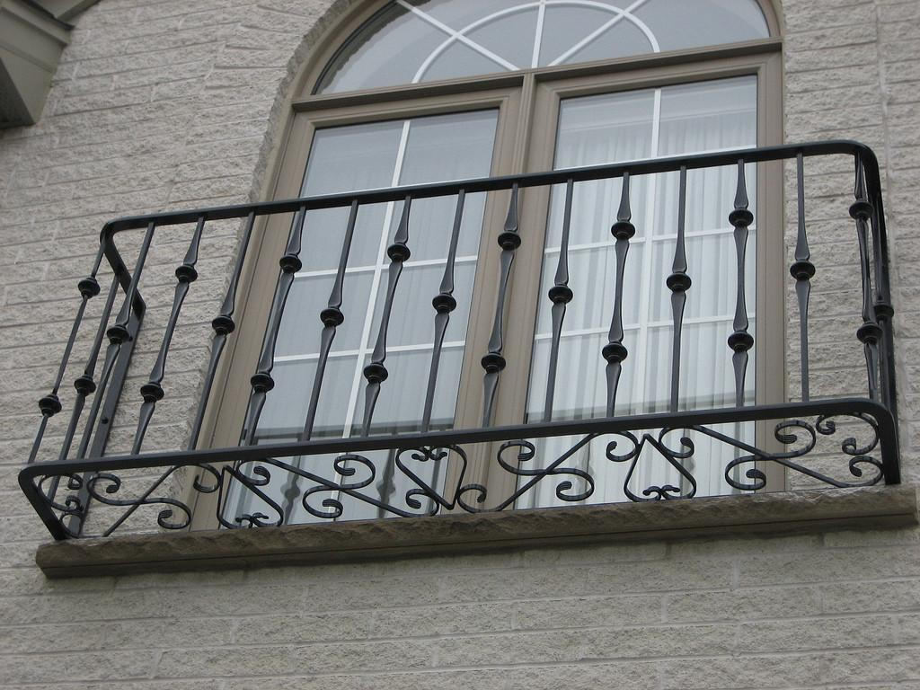 Juliet Balcony Railing Front Decorative Wrought Iron
