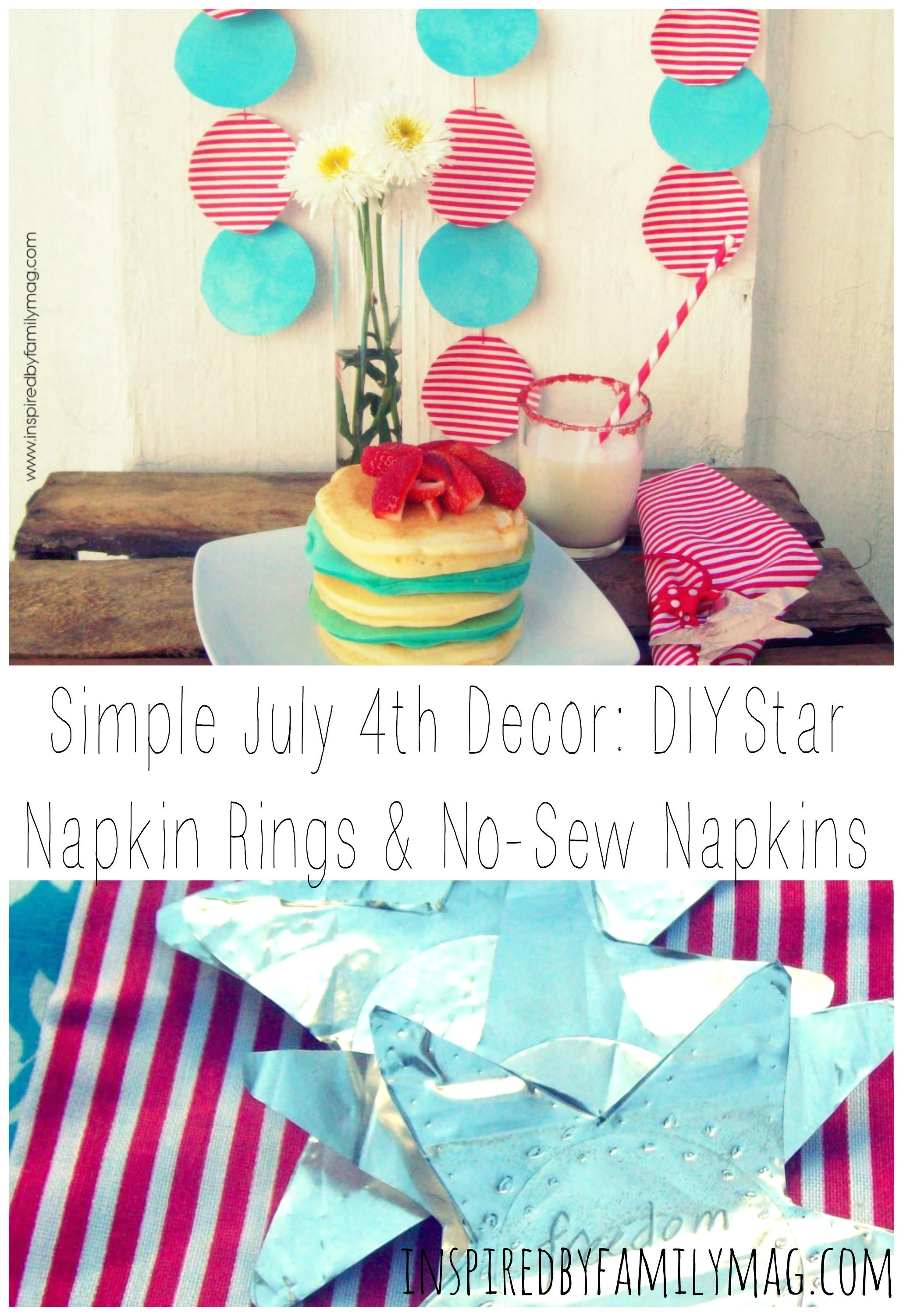 July 4th Decor Diy Aluminum Star Napkin Rings