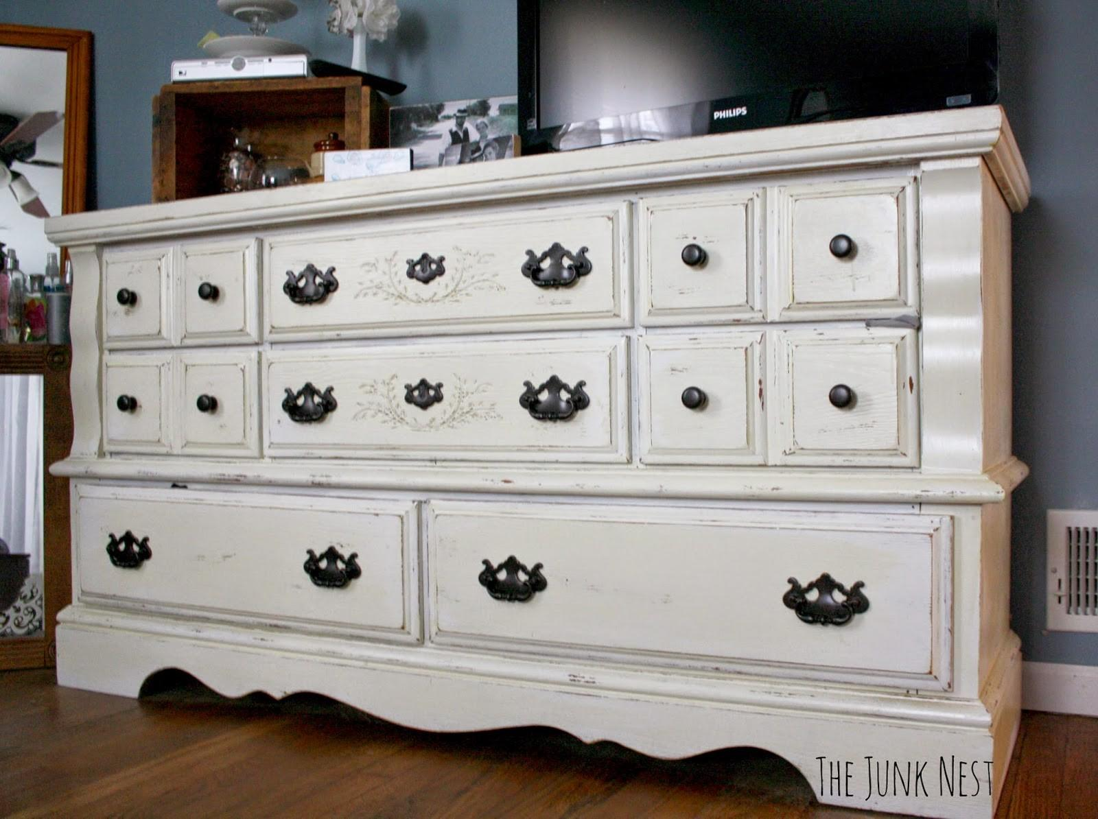 Junk Nest Diy Chalk Painted Dresser
