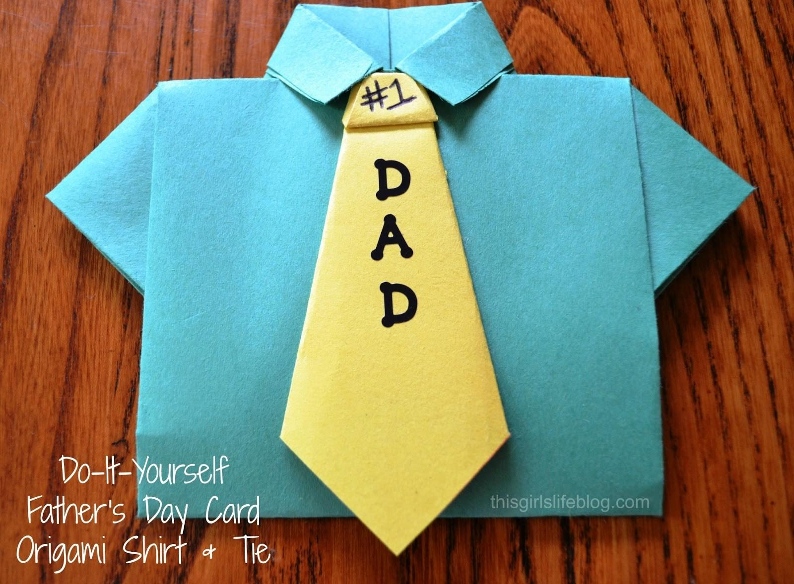 Juripunek Diy Father Day Card Origami Shirt Tie