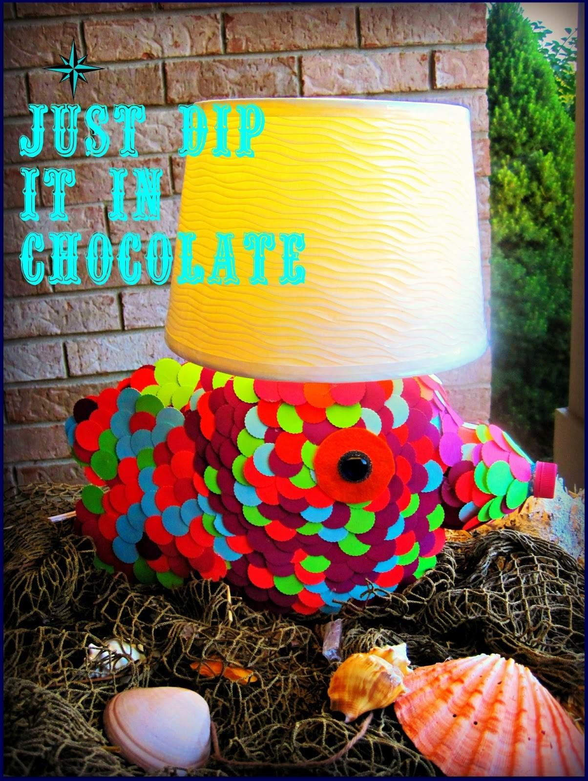 Just Dip Chocolate Recycled Diy Tide Pods Fish Lamp