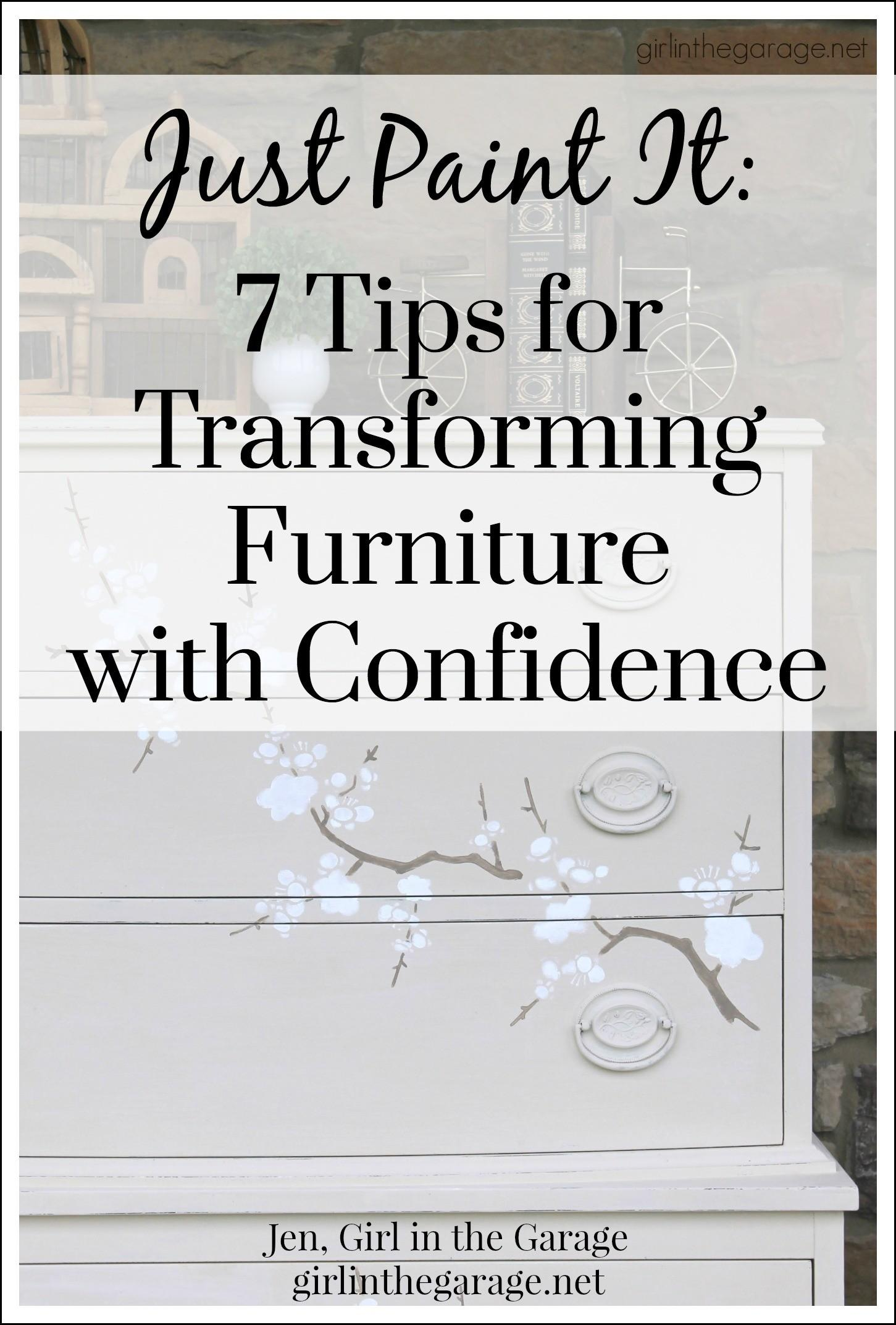 Just Paint Tips Transforming Furniture