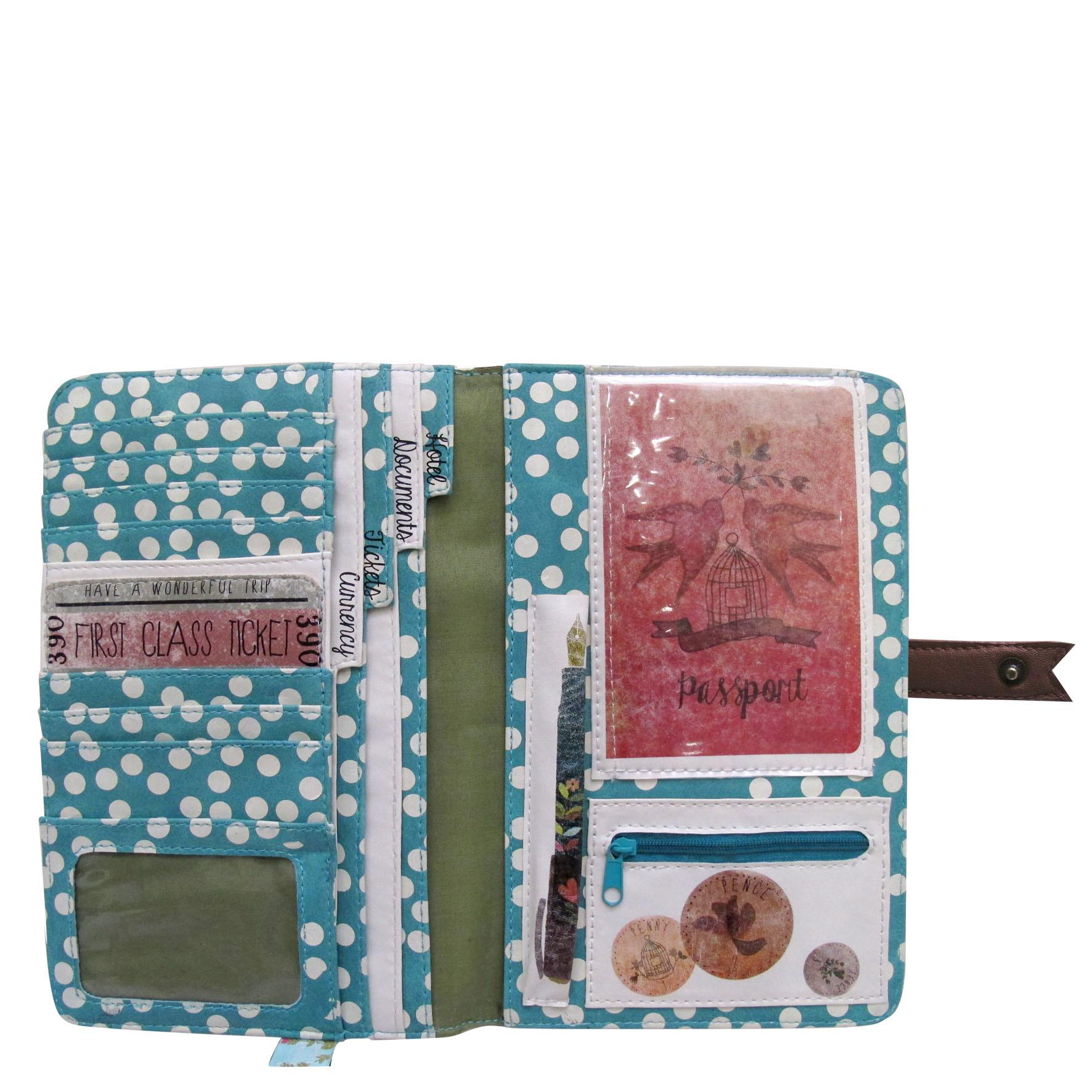 Just Ticket Travel Wallet Poppy Kitten Designs