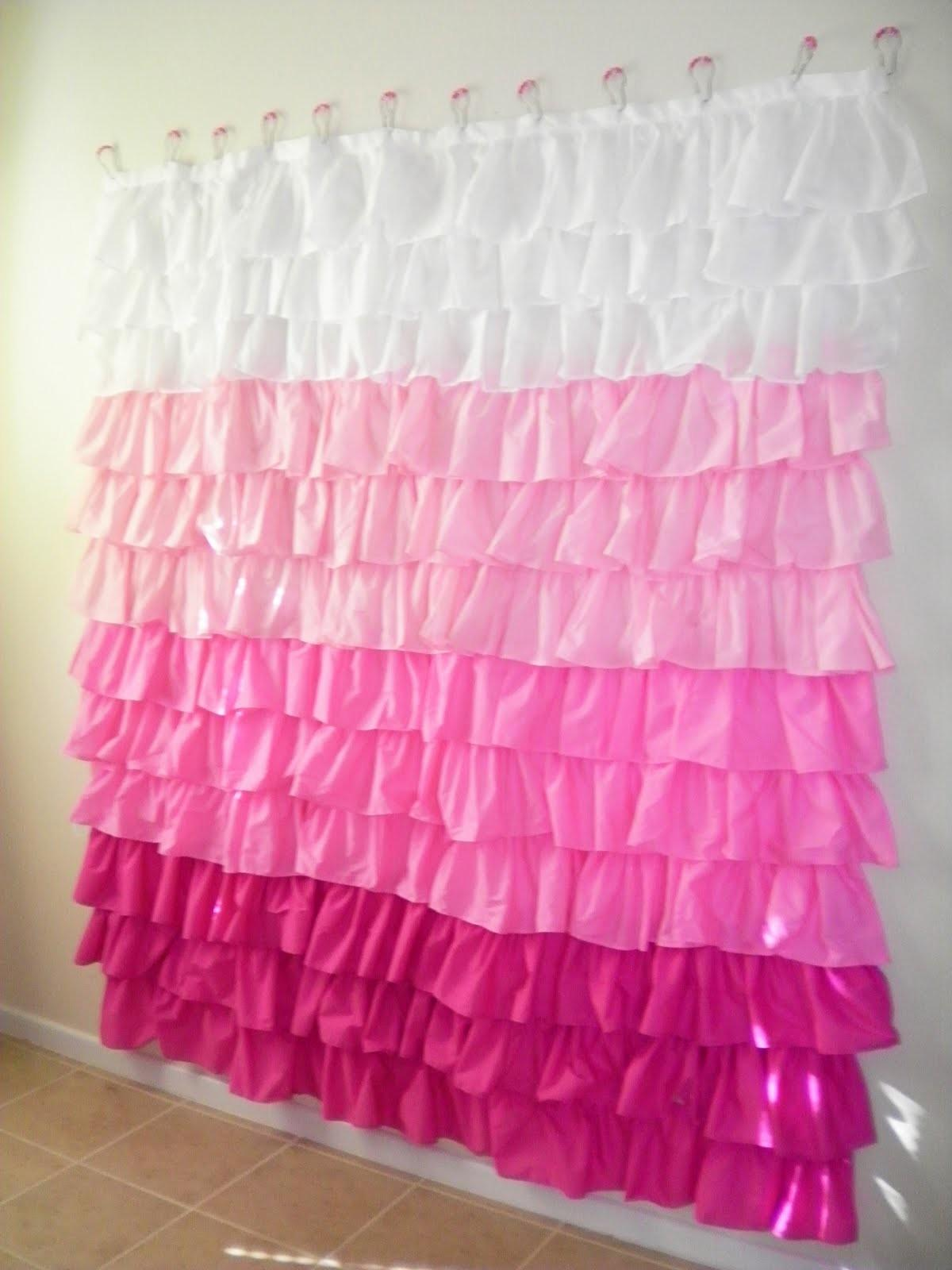 Justcallmeblessed Oodles Ruffles Shower Curtain