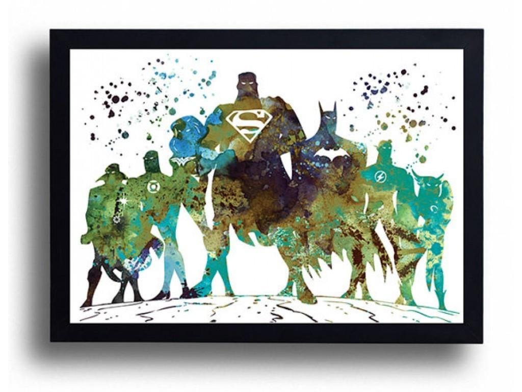 Justice League Watercolor Art Print Avengers