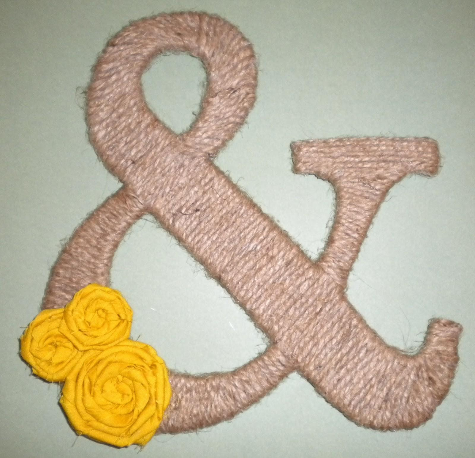 Jute Rope Ampersand Inspired Crafts
