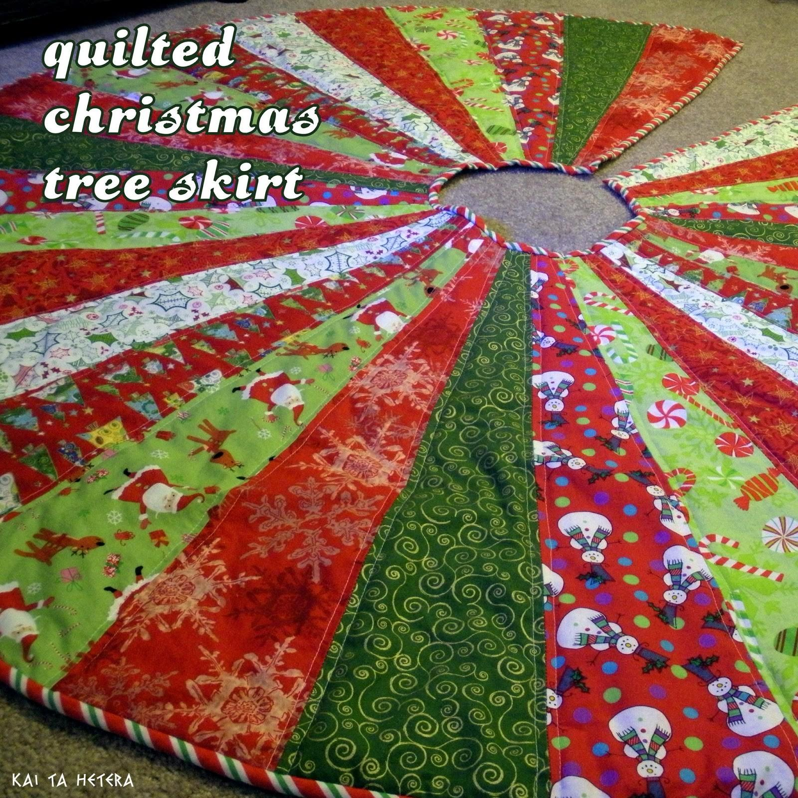 Kai Hetera Quilted Christmas Tree Skirt
