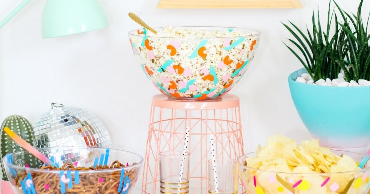 Kailo Chic Life Diy Confetti Party Serving Bowls