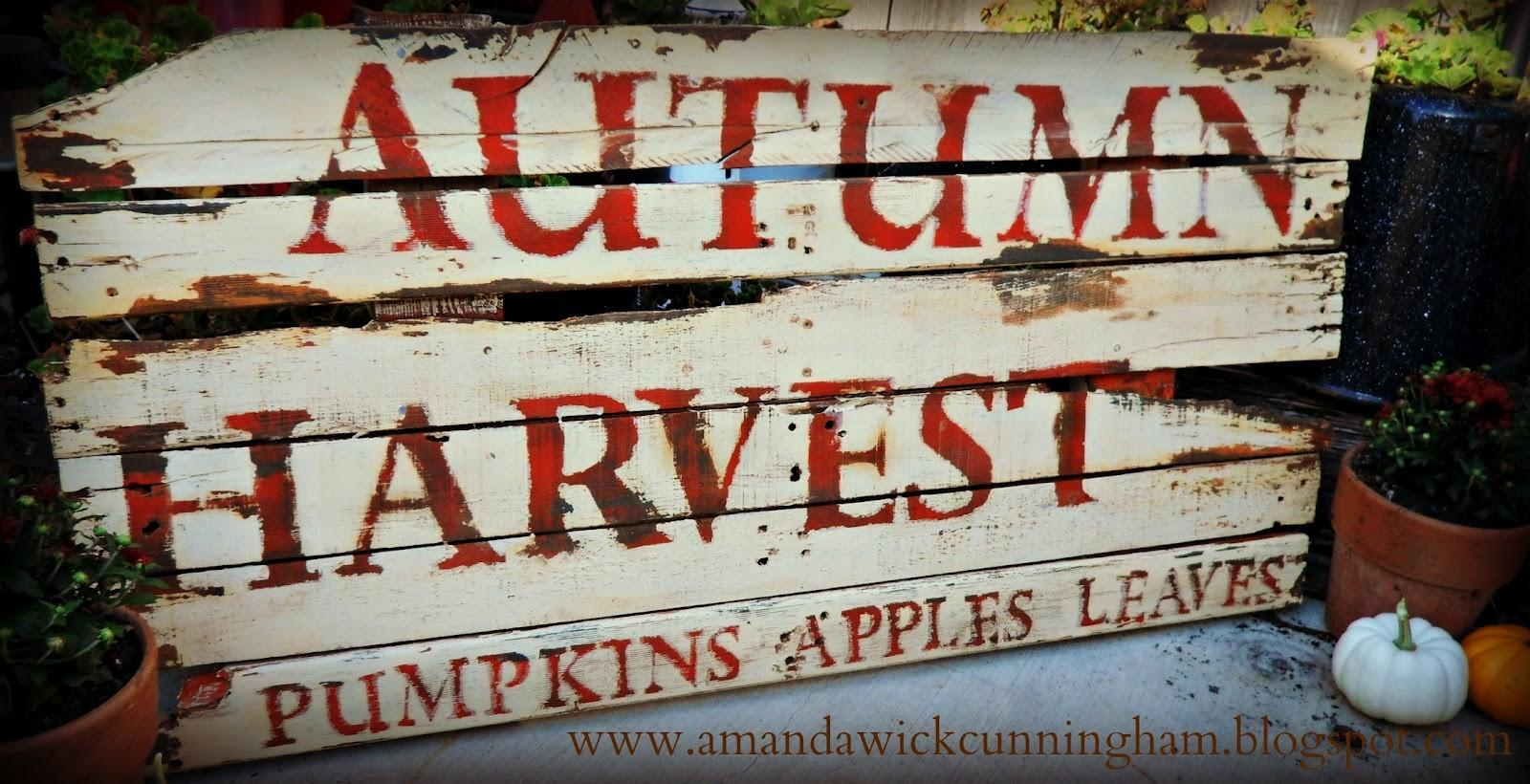 Kaleidoscope Colors Pallet Distressed Harvest Sign