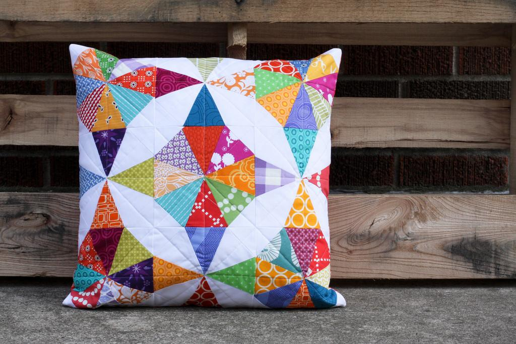 Kaleidoscope Pillow Inspired Angela Blogged