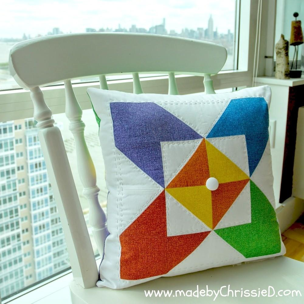 Kaleidoscope Quilt Block Pillow Favequilts