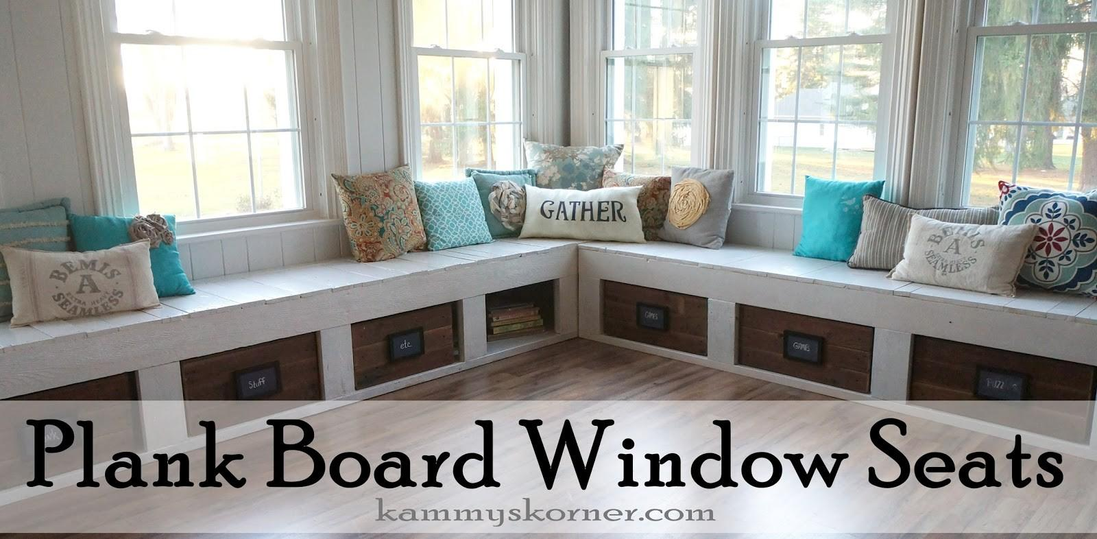 Kammy Korner One Kind Window Seats Planked