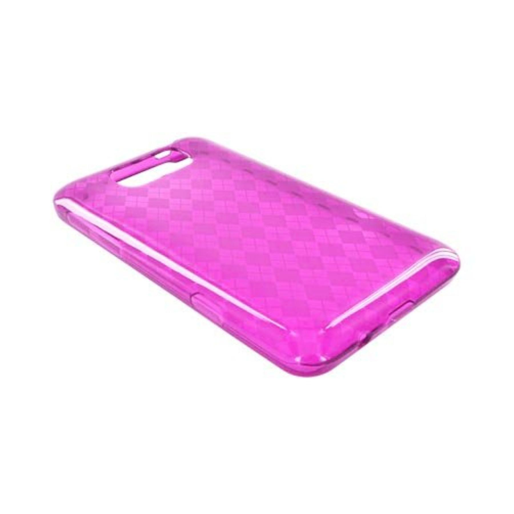 Karendeals Argyle Magenta Htc Titan Tpu Gel Case Cover