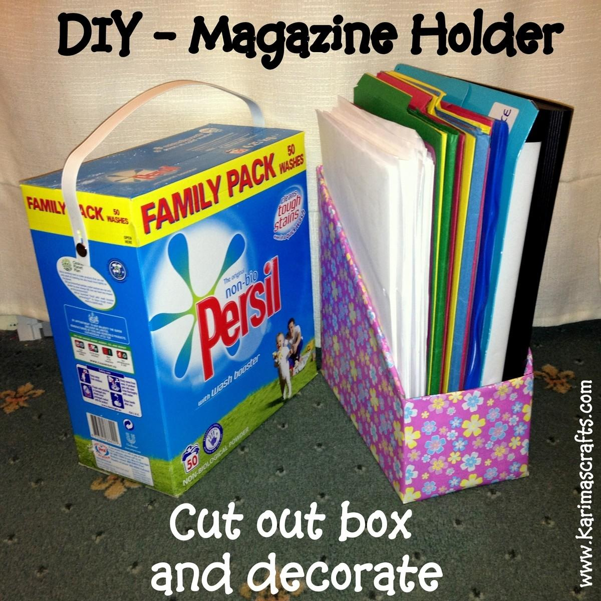 Karima Crafts Diy Magazine Holder Great Ideas