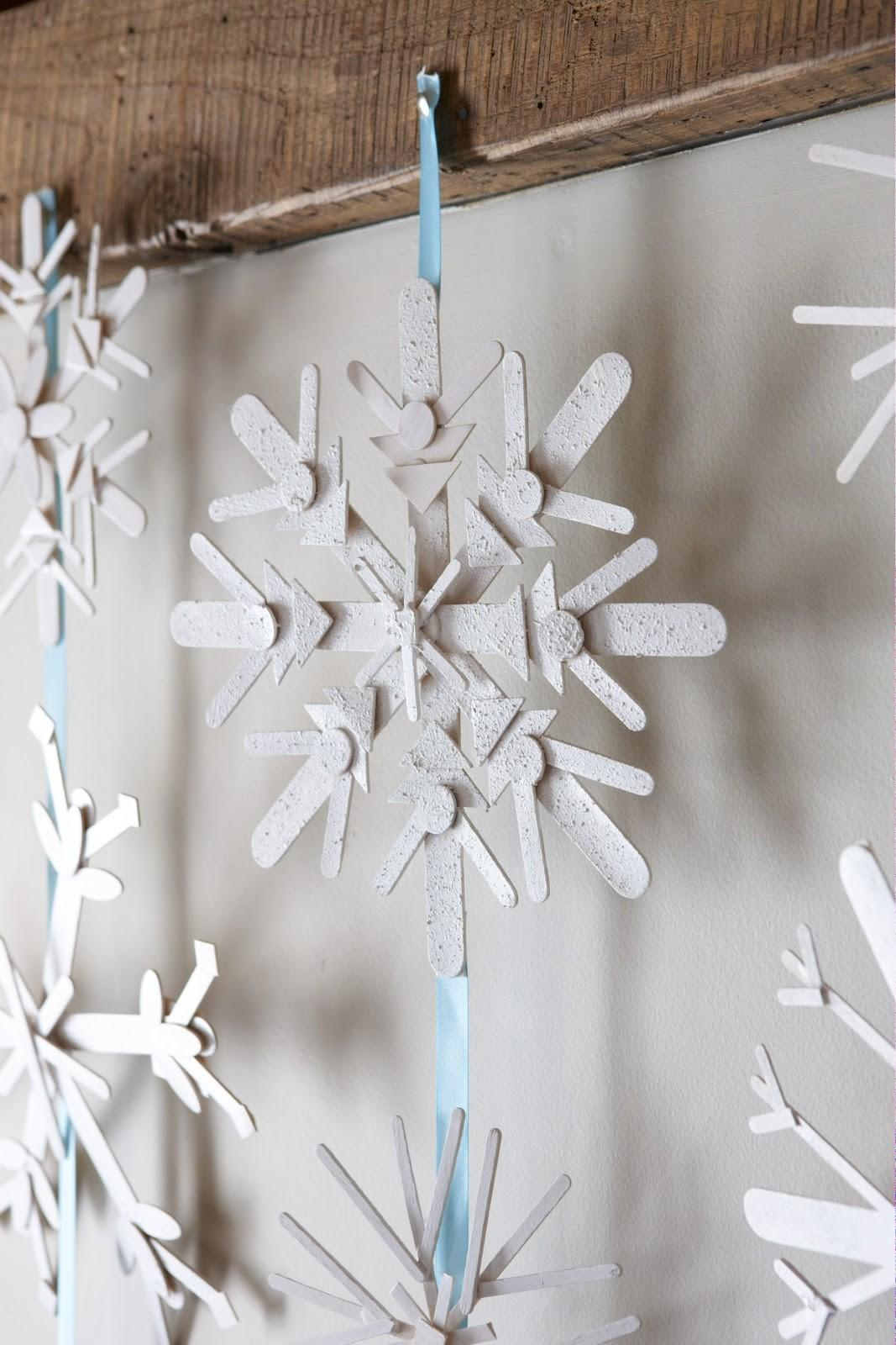 Karin Lidbeck Day Count Down Diy Snowflake Decor