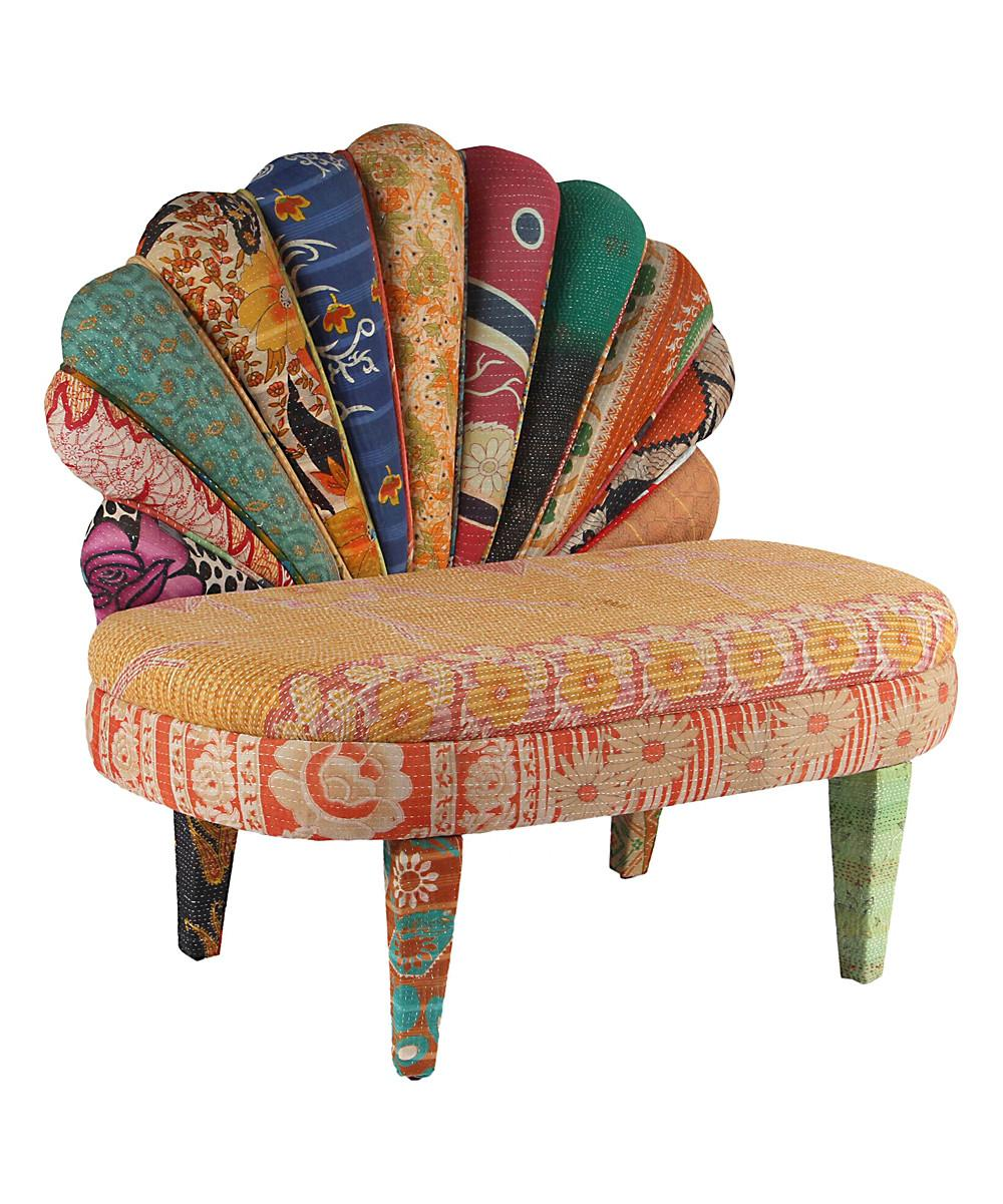 Karma Living Tan Red Peacock Love Chair Zulily