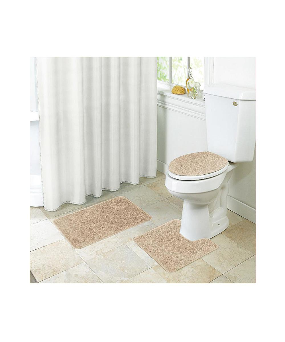Kashi Home Layla Shaggy Style Piece Bathroom Set Bath