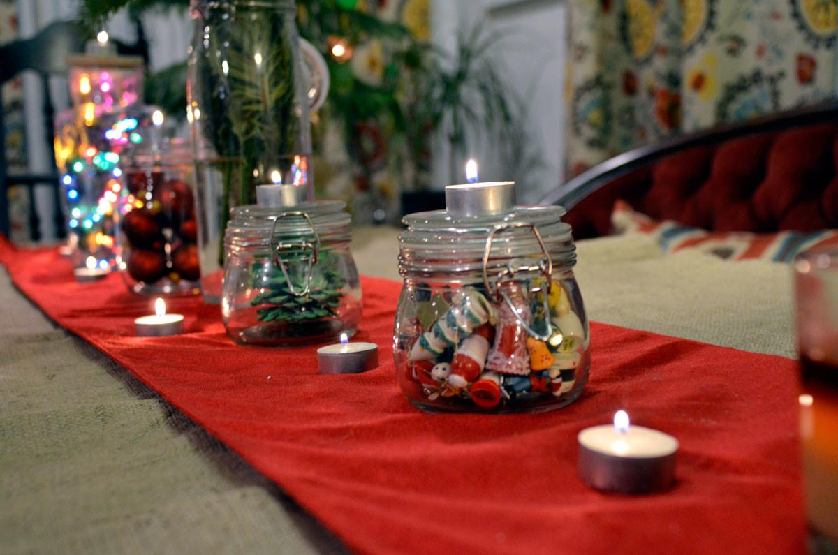 Kate Holiday Diy Glass Jar Centerpiece