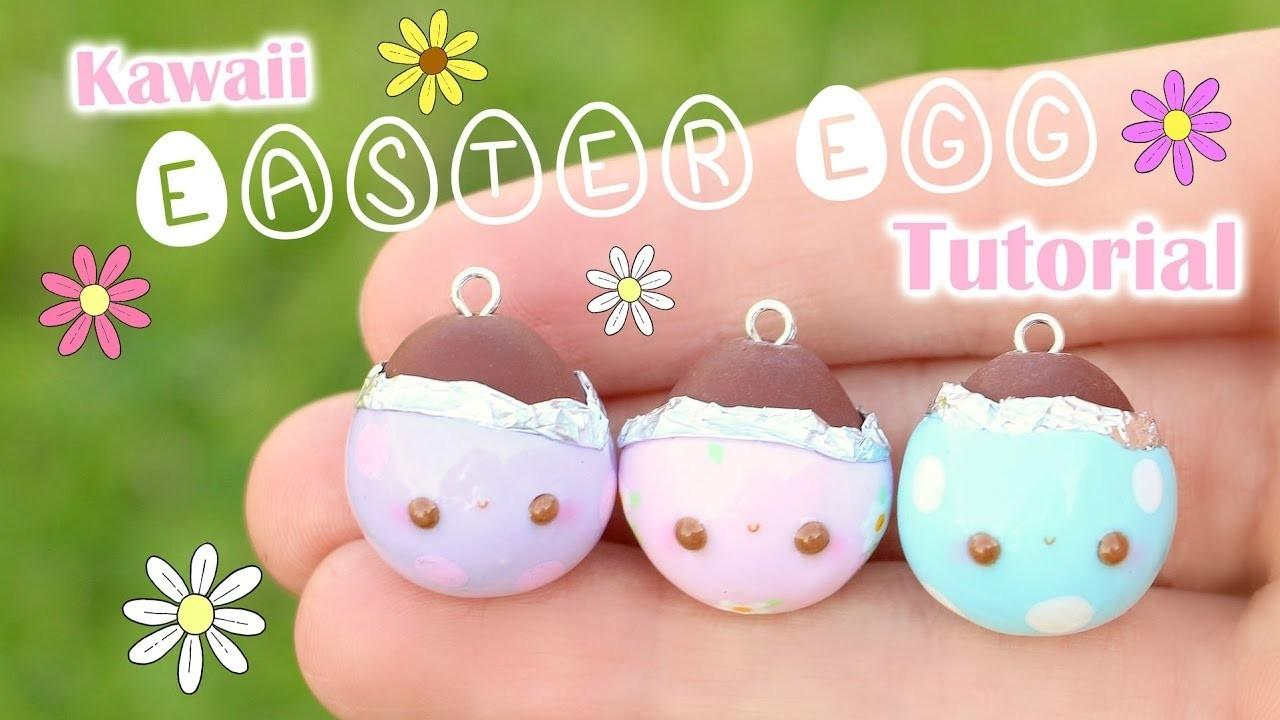 Kawaii Easter Egg Charm Polymer Clay Tutorial Crafts