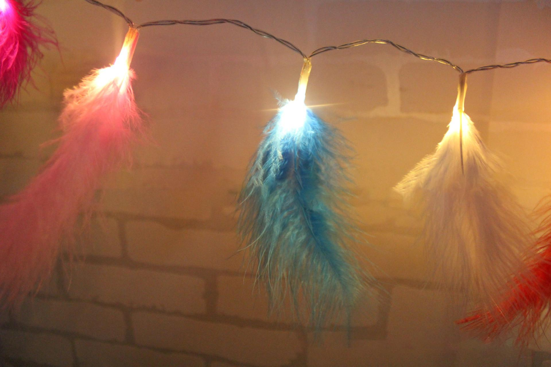 Kcasa Led Feather String Lights Christmas Tree