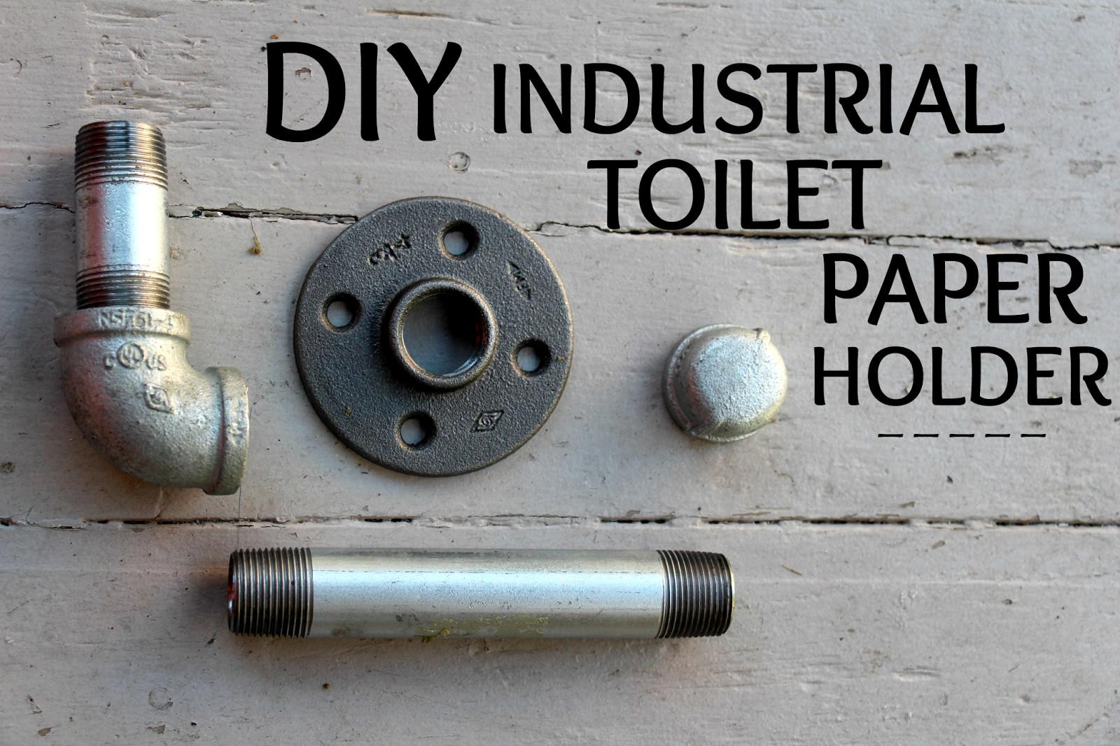 Keep Beautiful Diy Industrial Toilet Paper Holder