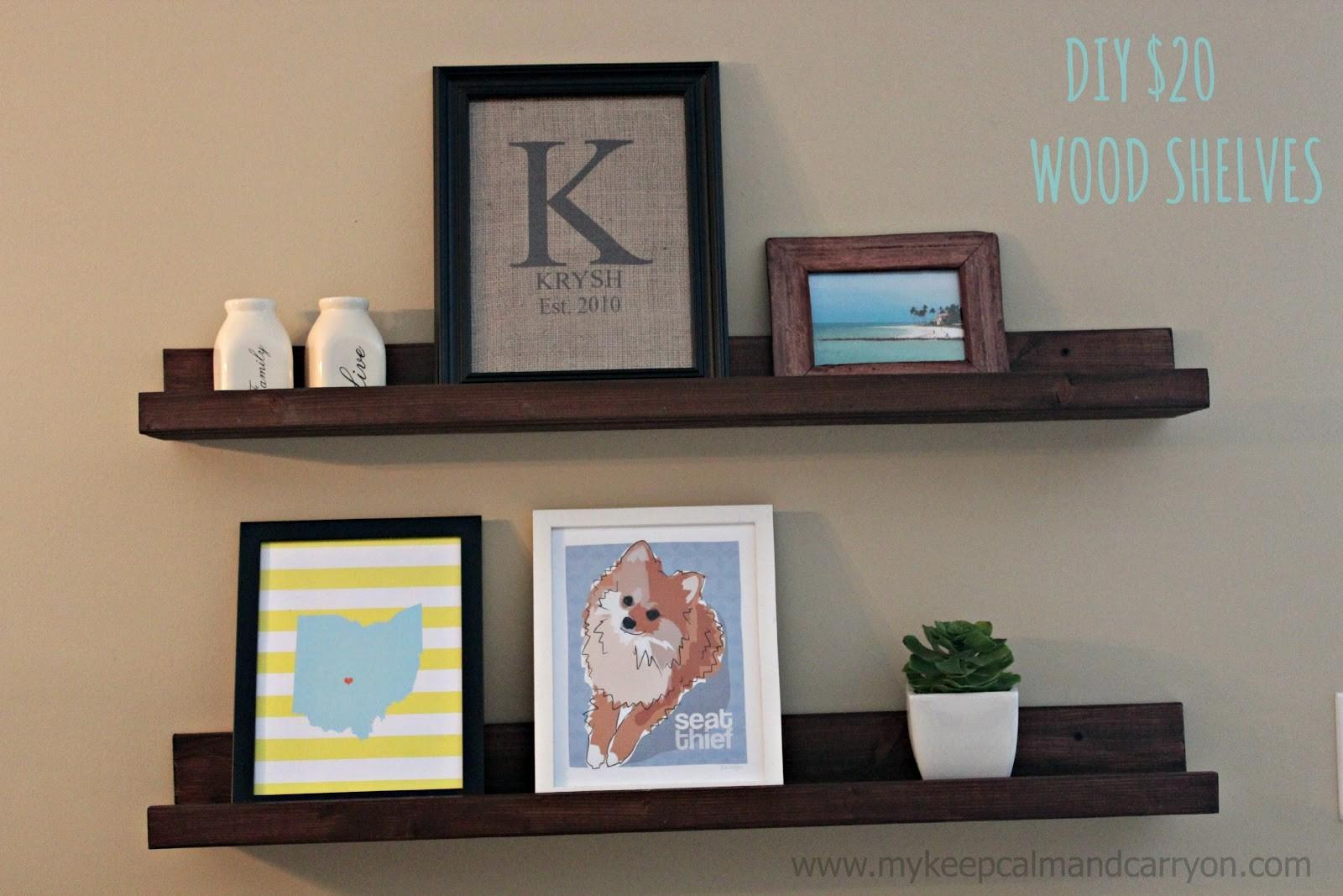 Keep Calm Carry Spd Wood Shelves Tutorial