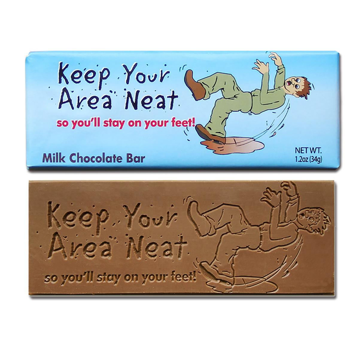Keep Your Area Neat Milk Chocolate Bar Totally