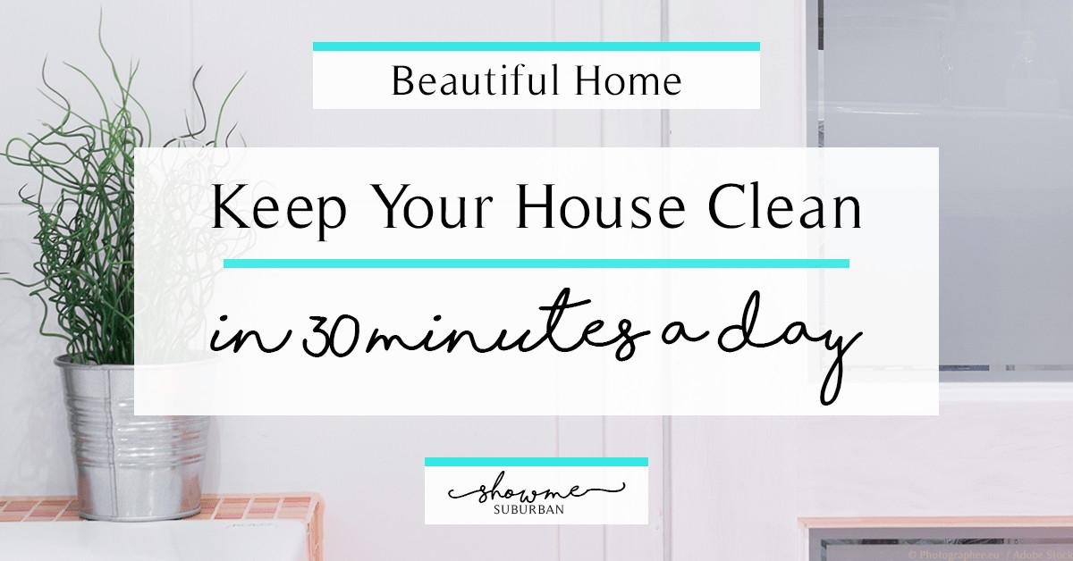 Keep Your House Clean Minutes Day Showme