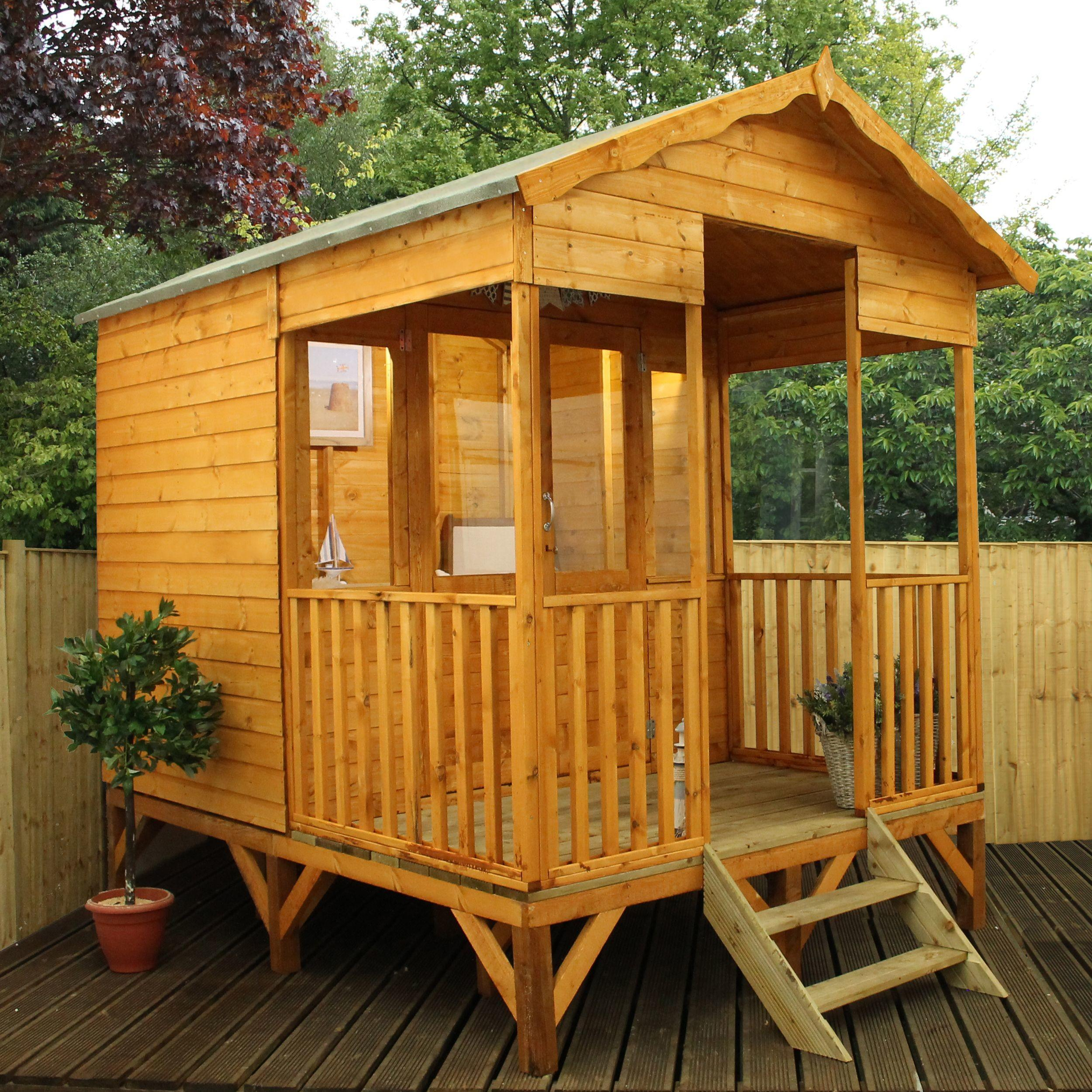 Kensington Shiplap Timber Summerhouse Toughened