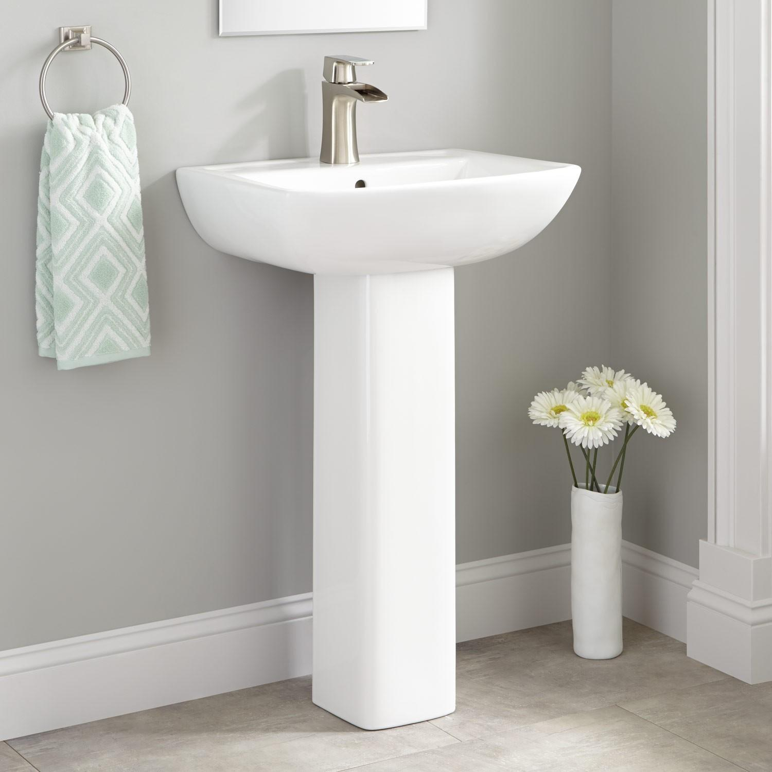 Kerr Porcelain Pedestal Sink Bathroom Sinks