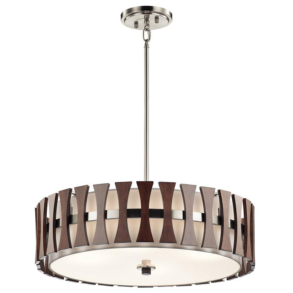 Kichler Aub Cirus Modern Auburn Stained Drum Pendant