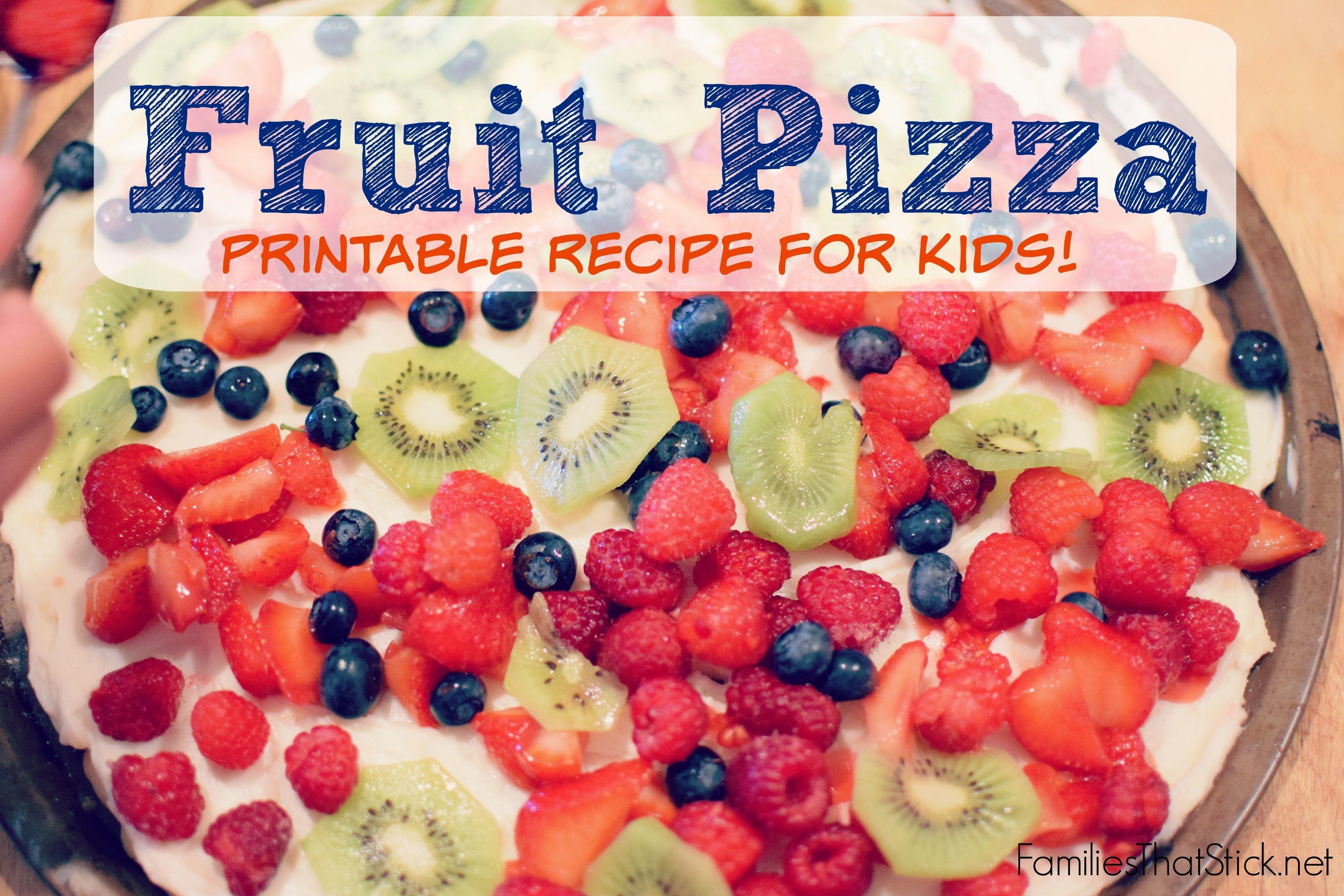Kid Summer Cooking School Fruit Pizza