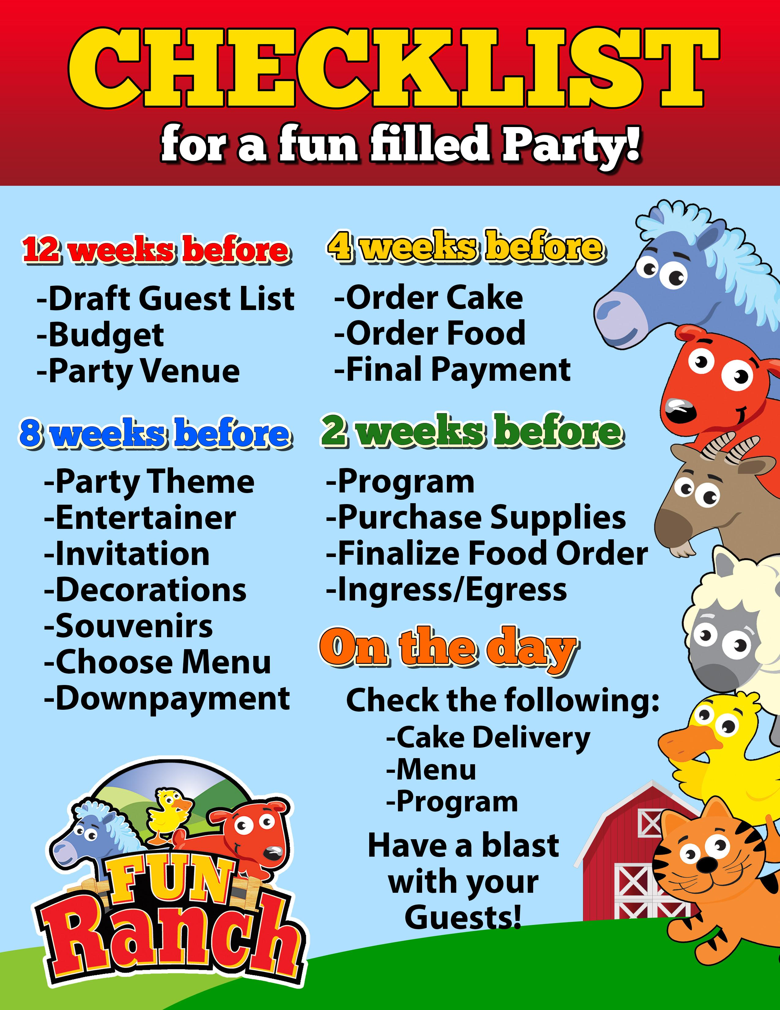 Kiddie Party Packages Funranch