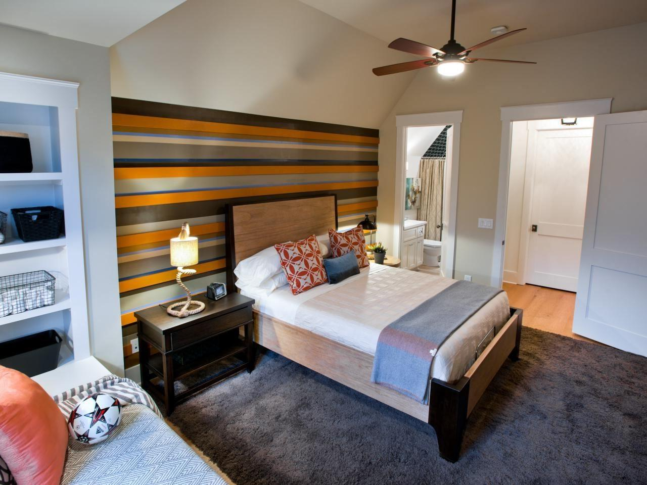 Kids Bedroom Accent Wall Paint Ideas Brown Girl Carpet