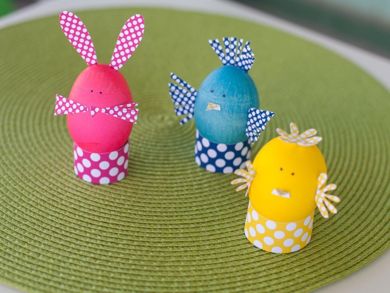 Kids Craft Dyed Easter Egg Animals