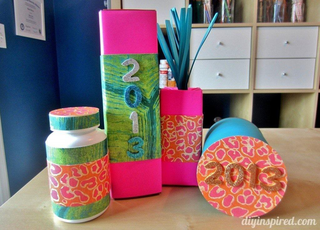 Kids Craft Ideas New Year Noise Makers Diy Inspired