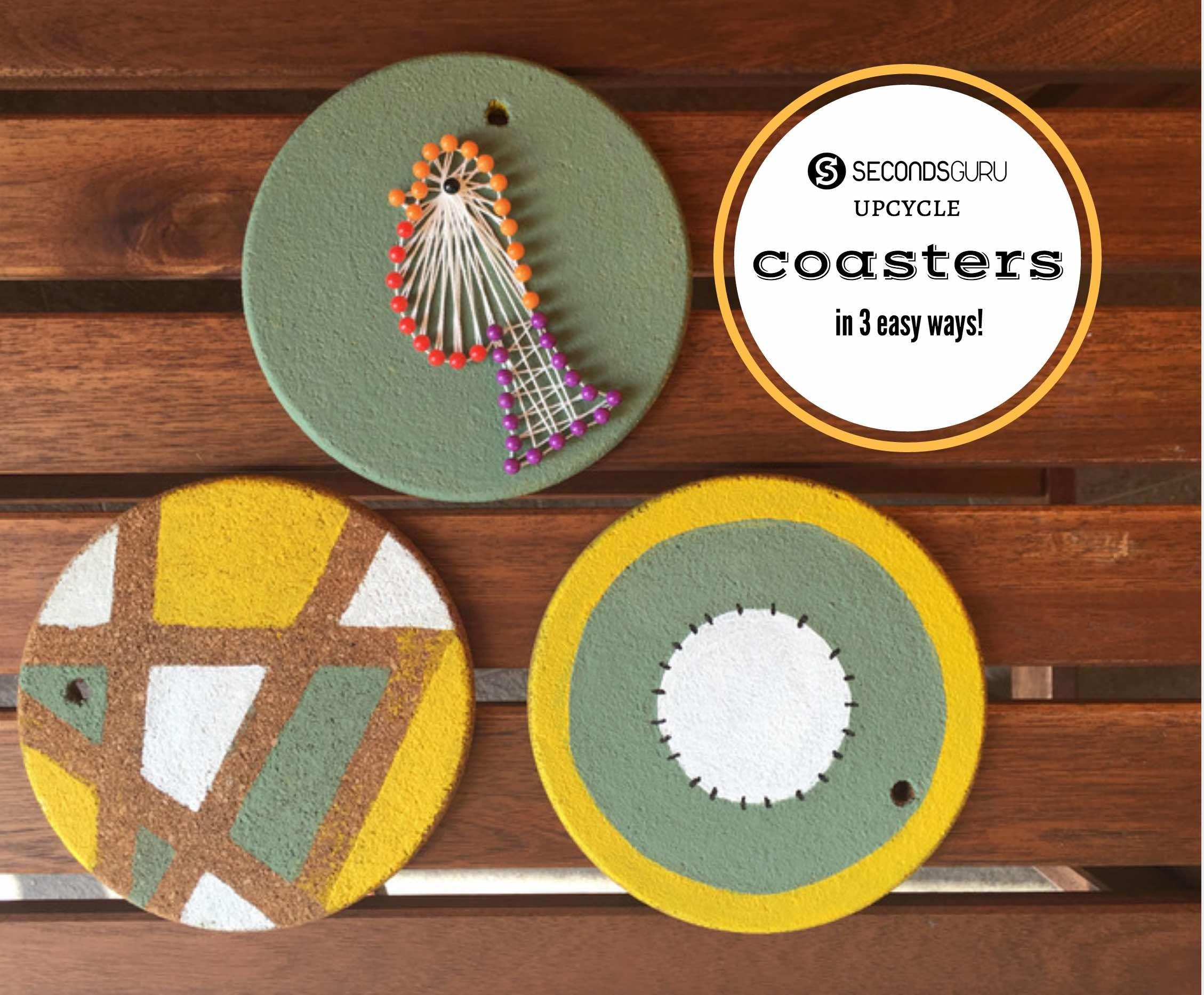 Kids Crafts Cool Ideas Upcycle Old Cork Coasters