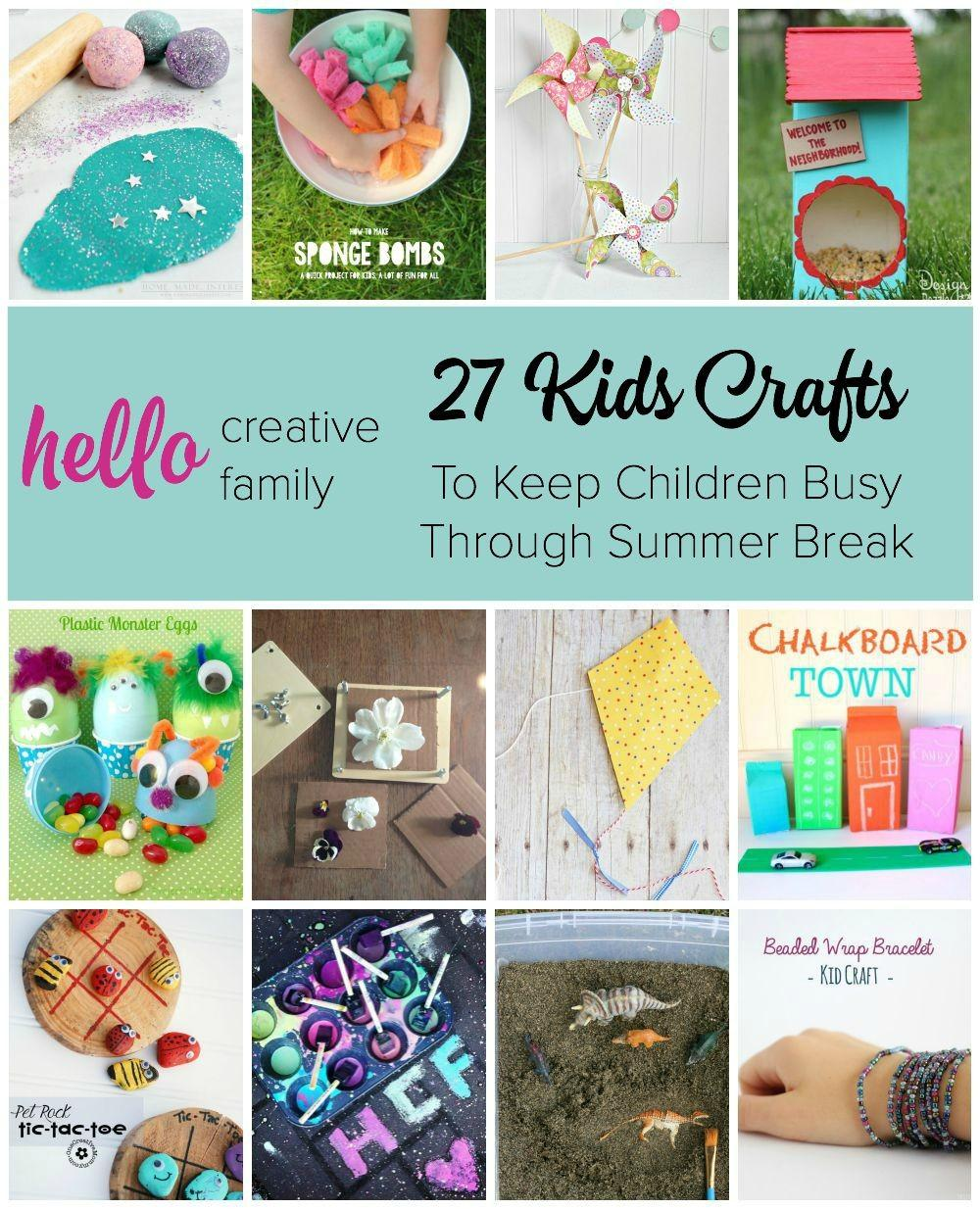 Kids Crafts Diy Projects Summer